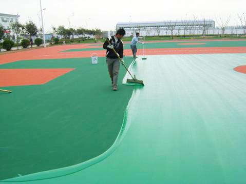 PU籃球場(chang)地坪工程(cheng)