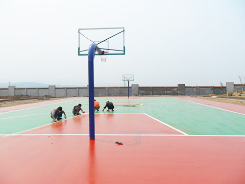 PU籃球(qiu)場(chang)地坪施工