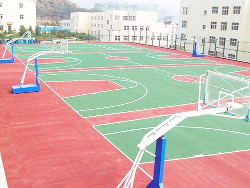 深圳PU籃球場地坪