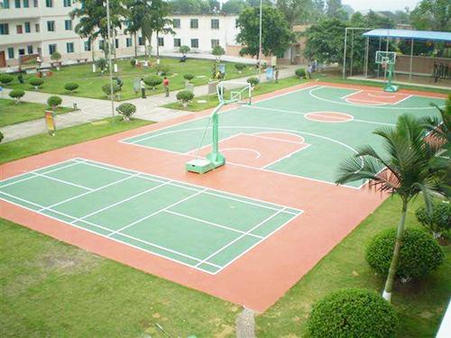 學校PU籃球場地坪(ping)工程